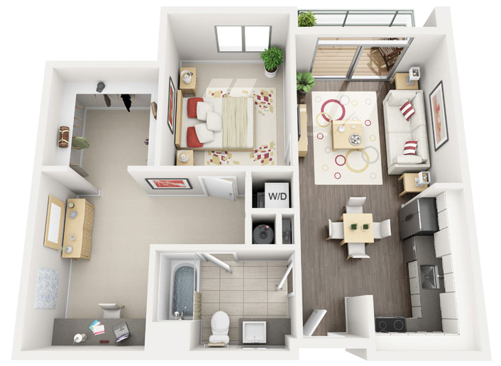 3d floor plans for apartments quick turnaround