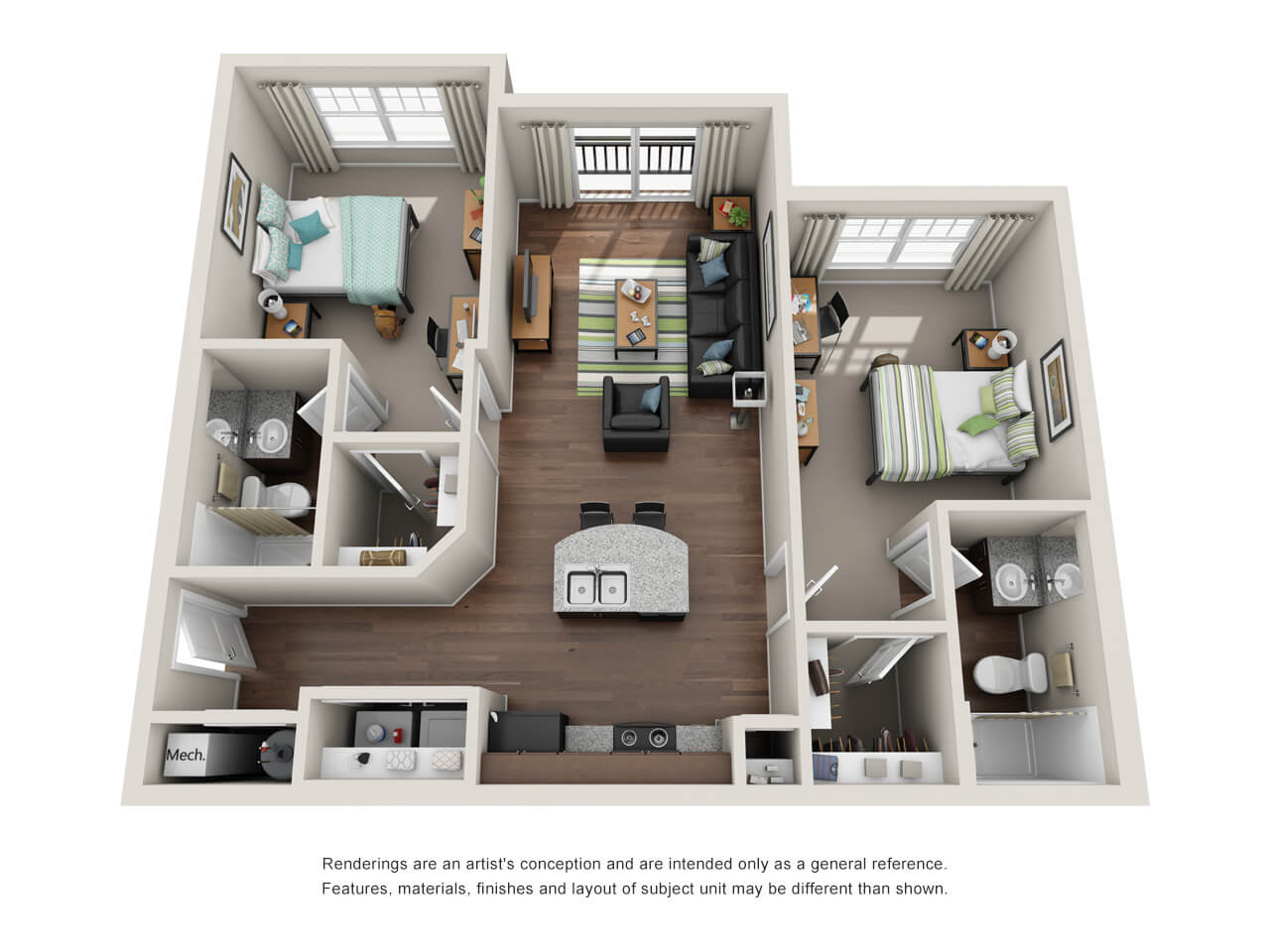 the preiss company 3d floor plans - Apartment Website Design