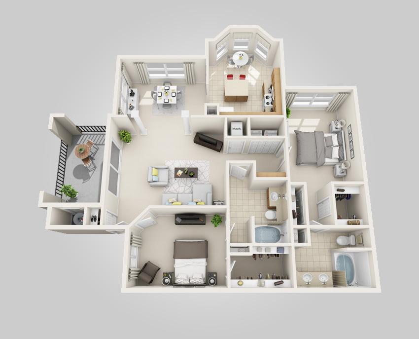 3d floor plans greystar