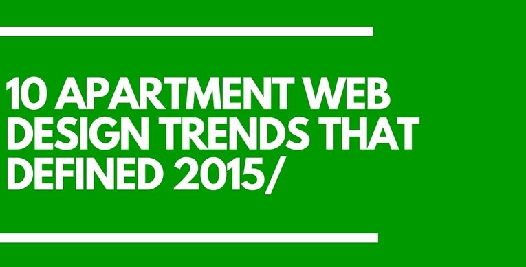 Apartment Web Design Trends 2015