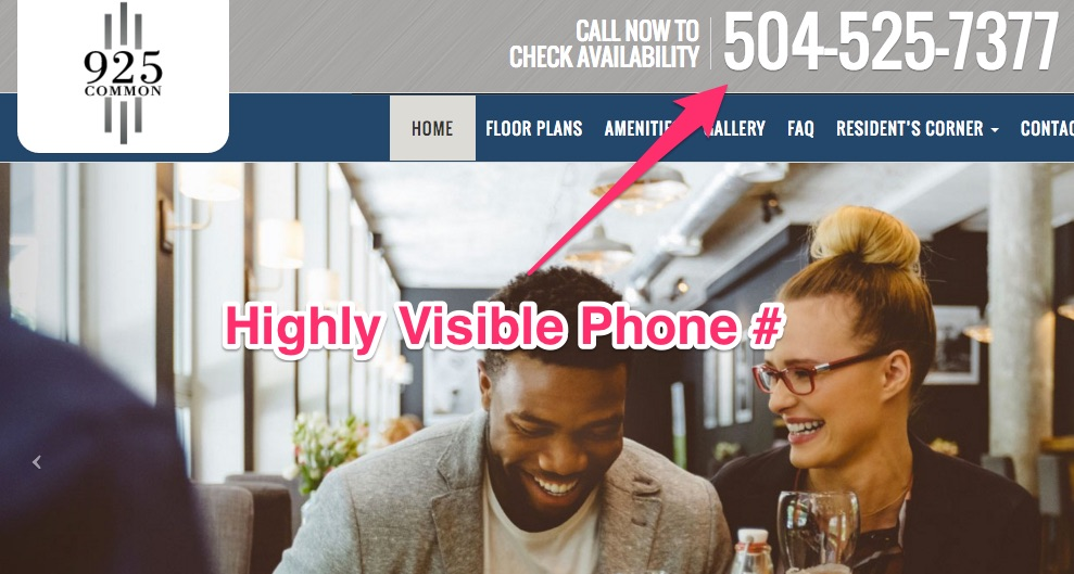Apartment Marketing Ideas - Highly Visible Phone Number