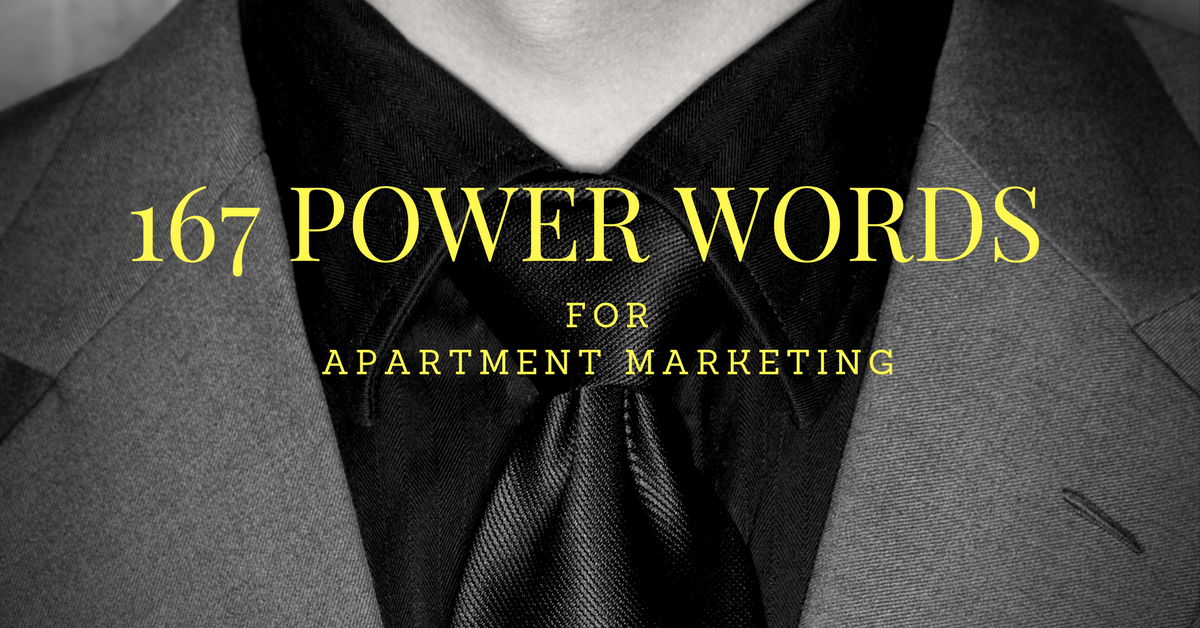 Apartment Marketing Ideas - 167 Power Words