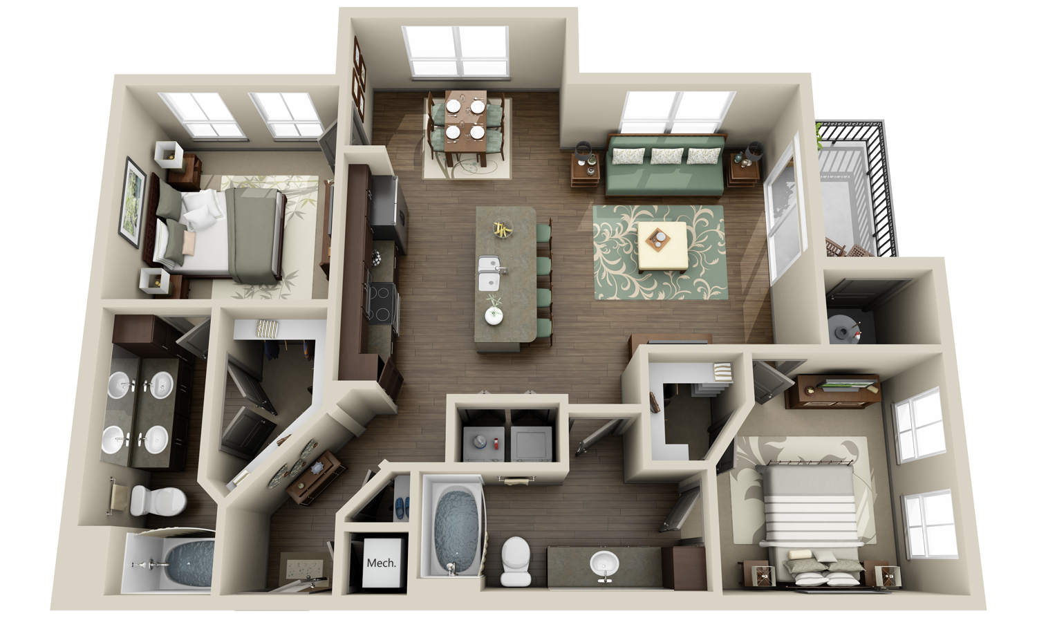 3D floor plan image 3