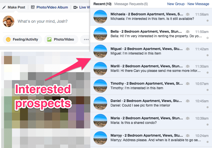 Apartment Advertising on Facebook's Marketplace Property Rentals
