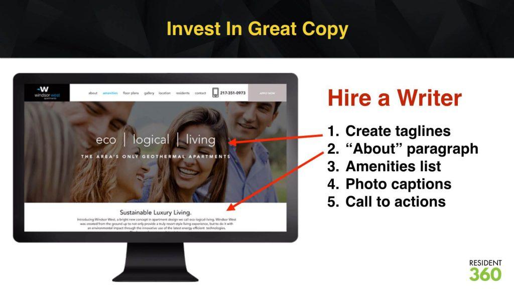 Copywriting for Apartment Marketing
