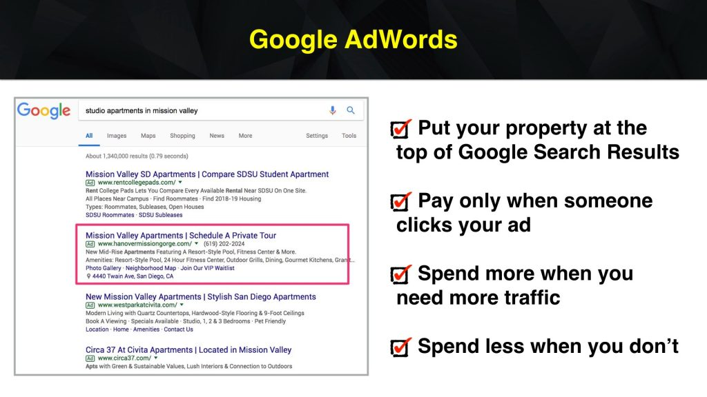 Google Ads for Apartment Marketing