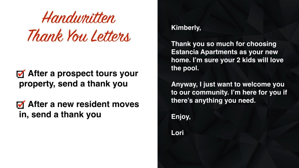 Handwritten Thank You Letters