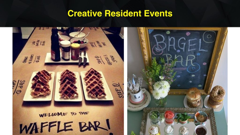 Creative Resident Event Ideas