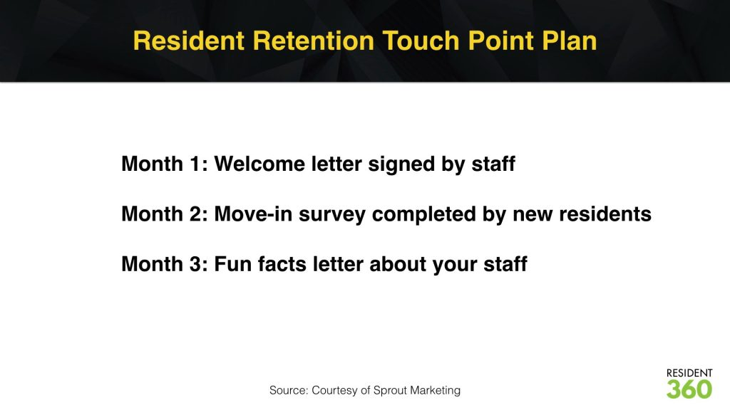 Resident Retention Touch Point Plan