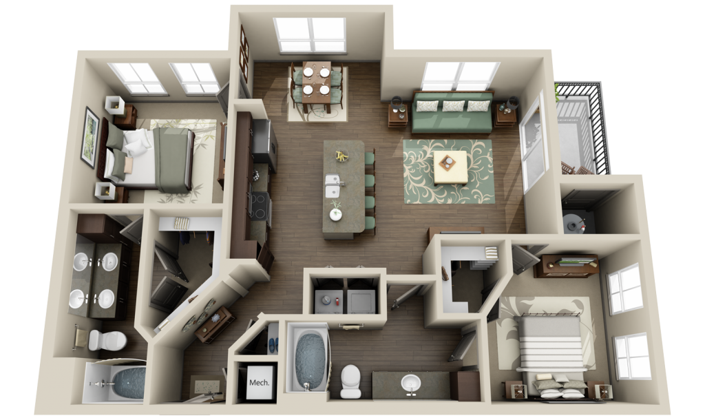 Apartment 3D Floor Plan