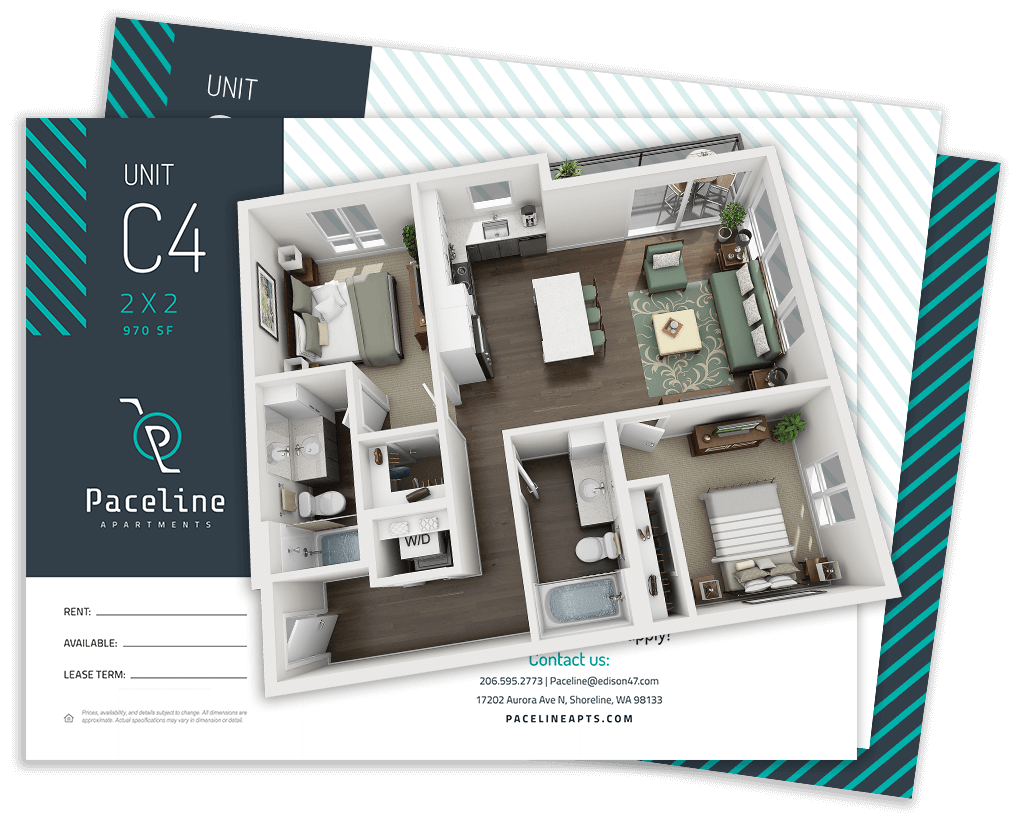 3D Floor Plans For Apartments By Resident360