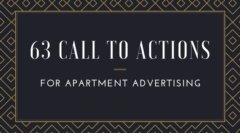 Call To Actions for Apartment Advertising Campaigns