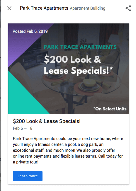 Look and Lease Special