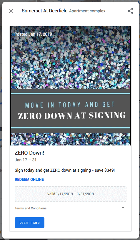 Zero Down at Signing Post
