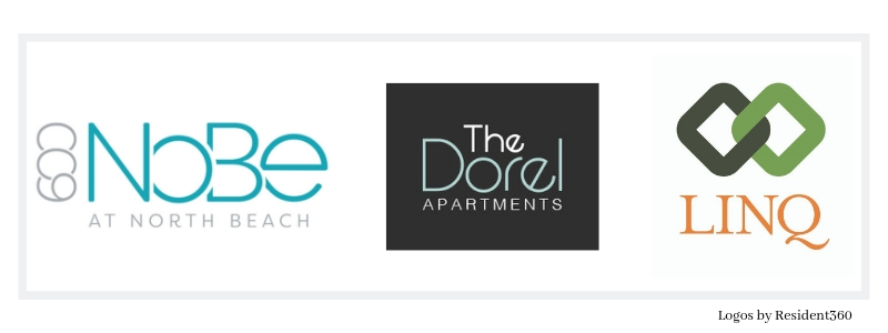 Resident360 Apartment Logo Design