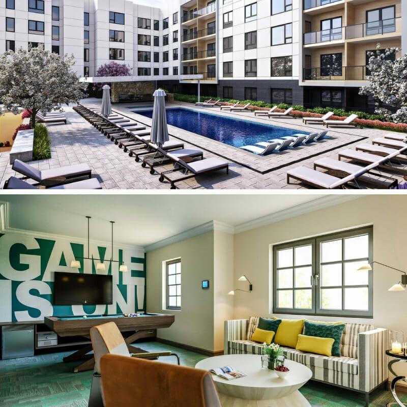 3D Apartment Renderings Exterior & Interior