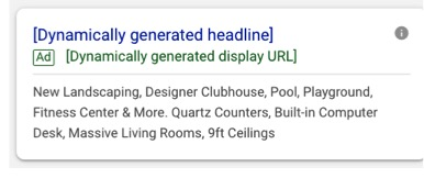 Google Dynamic Search Ads for Apartments